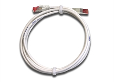Loop of white Category 6A Patch Leads