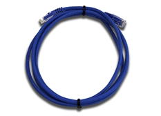 Loop of blue Category 6 Ultra-slim Patch Leads